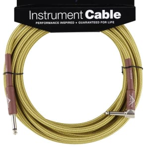 Fender Custom Shop Performance Series 18ft Angled Instrument Cable - Tweed for sale