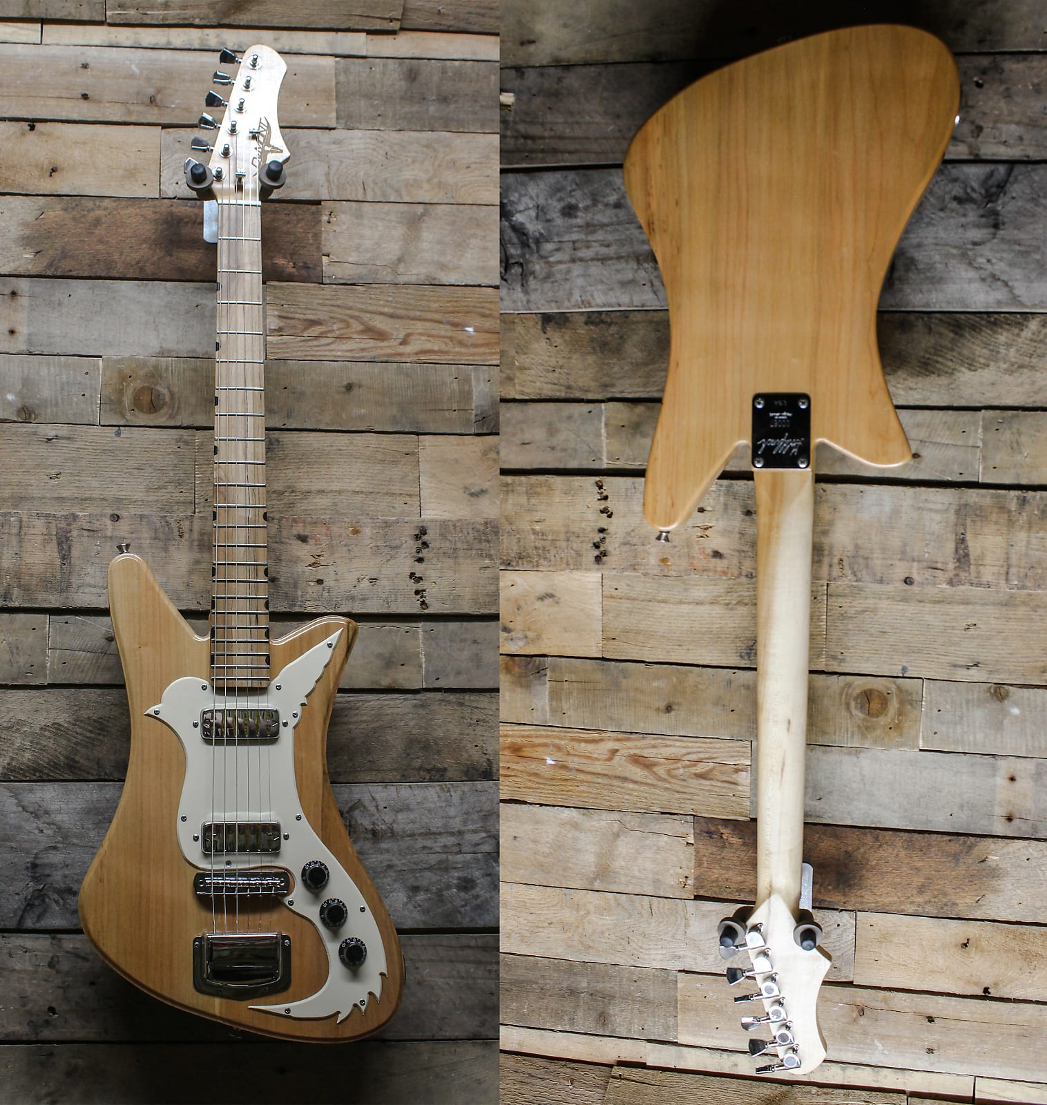 DeMont USA Made Goldfinch - Rock Maple Neck, Spalted Maple Fretboard,  - All Cut in Illinois! w/ bag