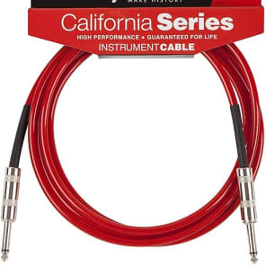 Fender California Instrument Cable, 10', Candy Apple Red 2016