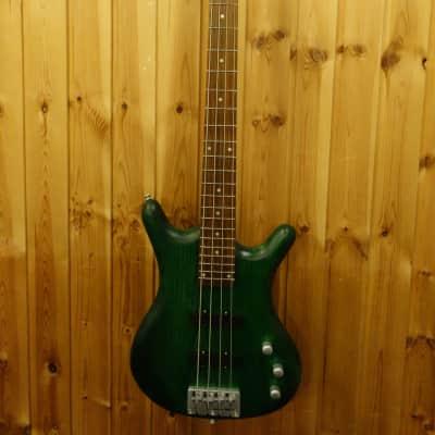 Rok Axe  4 string Green electric bass for sale