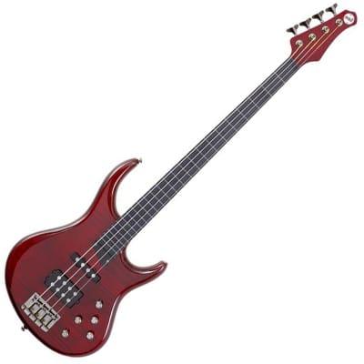 MTD Kingston Heir 4-String Bass w/ Rosewood Fretboard Transparent Cherry for sale