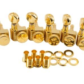 Kluson Locking Tuners Fender 6 in line 2 pin Gold KLF-3805GL