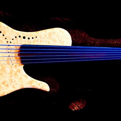 Tom Clement Anne Chambered 6 String Fretless Bass 2019 Natural