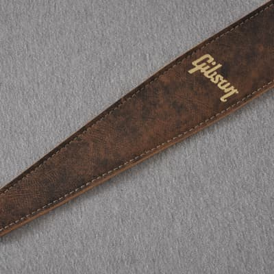 Gibson The Western Vintage Premium Leather Guitar Strap in Brown