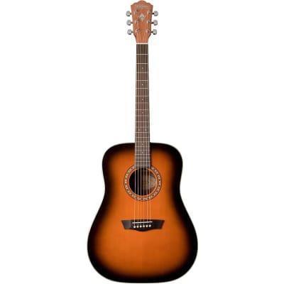Washburn Harvest Series D7SATB Dreadnought Acoustic Guitar, Tobacco Sunburst