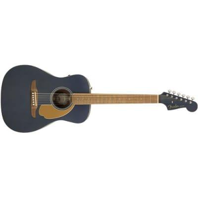 Fender Malibu Player Acoustic Guitar, Walnut Fingerboard, Midnight Satin