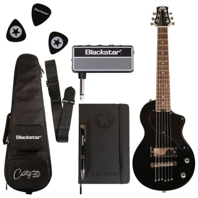 Blackstar Travel Guitar Pack Black with AmPlug Fly + Travel Bag + Medium Picks + More