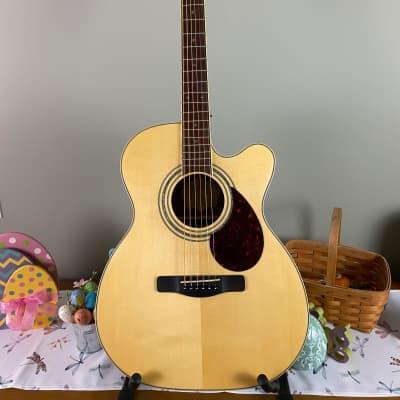 Samick Greg Bennett Worthington Series: OM-5CE Pro Acoustic/Electric Guitar – Natural for sale