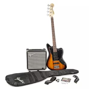 "Squier ""Stop Dreaming, Start Playing!"" Jaguar Bass Special SS Pack"