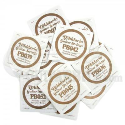 D'Addario Strings Acoustic Guitar Single String Phosphor Bronze 22 - 56 - 52w