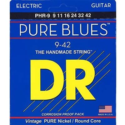 DR Pure Blues Nickel Guitar Strings - 9-42