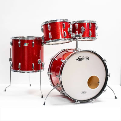 "Ludwig No. 989 Big Beat Outfit 8x12 / 9x13 / 16x16 / 14x22"" Drum Set (3-Ply) 1969 - 1976"