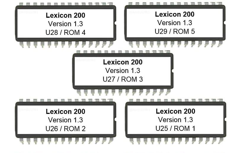 Lexicon PCM80 Latest OS firmware V 1.10 PCM-80 Upgrade Update Eprom Latest Os