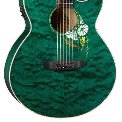 Luna FLO MOON CUST Flora Series Moonflower Custom Folk Acoustic-Electric Guitar for sale