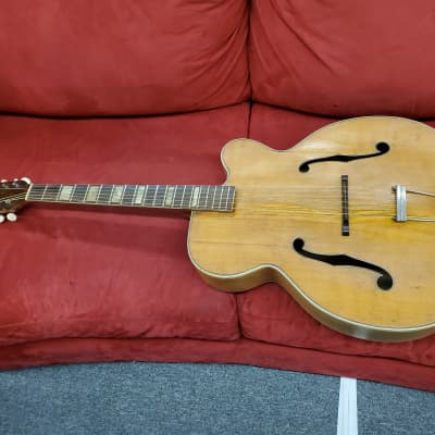 Orpheum  K21 1950,s Natural vintage archtop guitarplays and could use work a bit of a project for sale