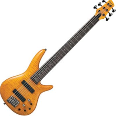 Ibanez Gerald Veasley 6 String Electric Bass Guitar - Amber