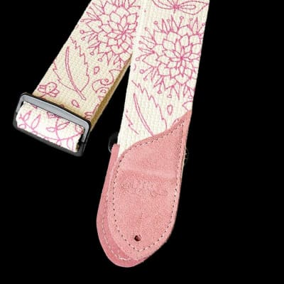 DAISY ROCK DRS07 pink floral pattern cotton guitar strap NEW