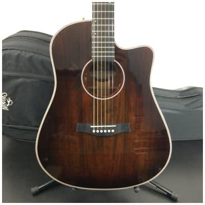 Seagull Artist Peppino Signature CW Acoustic Guitar, Bourbon Burst w/ TRIC Case
