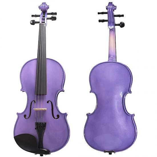 Cecilio CVN-Color Violin Black, Blue, Purple, Pink, White