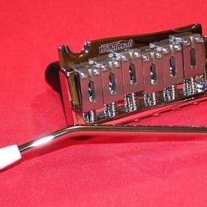 Guitar Parts WILKINSON WVP-SB Tremolo Bridge - 2 Point - Steel Saddle & Block - CHROME