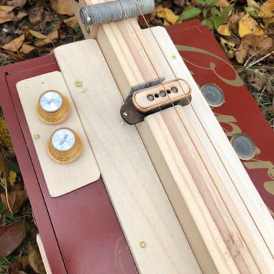 Three string lap steel cigar box guitar Home Made 2020 Natural for sale