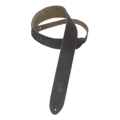 "Levy's Leathers MS12-BLK 2"" Suede-Leather Strap, Black"