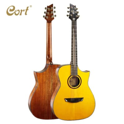 Cort LUXENAT LUXE Frank Gambale Signature Model Florentine 6-String Acoustic-Electric Guitar w/Case