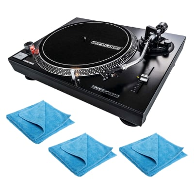 Reloop RP-2000-USB-MK2 Direct Drive Turntable w/Polish Cloth 3 Pack