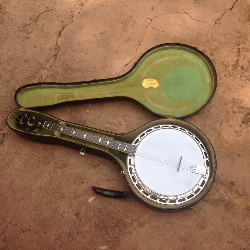 Ludwig Kingston vintage 4 string Tenor Banjo 1920's / 1930's w/case Sweet!