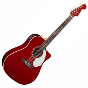 Fender Sonoran SCE Electro Acoustic Guitar, Candy Apple Red for sale
