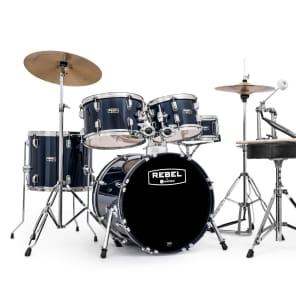 """Mapex RB5844FTCYB Rebel 18x16"""" / 10x7"""" / 12x8"""" / 14x12"""" / 14x5"""" Complete 5pc Junior Kit w/ Cymbals"""