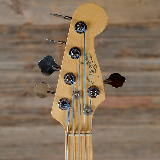 fender american standard 5 string precision bass black 2012 reverb. Black Bedroom Furniture Sets. Home Design Ideas