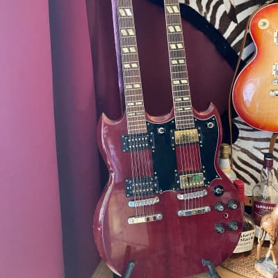 Arbiter  Double Neck  1975  Red for sale
