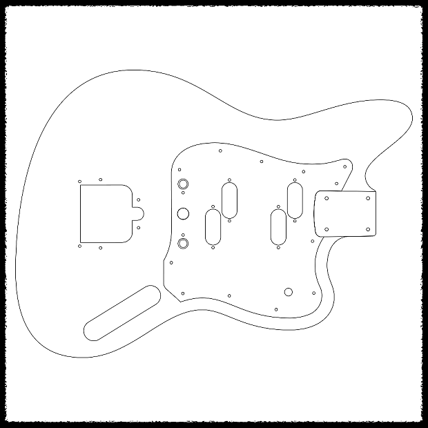 Jaguar Vi Guitar Routing Templates