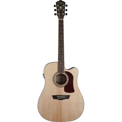 Washburn Heritage Series HD20SCE Dreadnought Cutaway Acoustic Electric Guitar, Natural