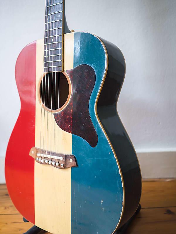 Harmony Buck Owens F 70 American Guitar 1970 American Flag Reverb