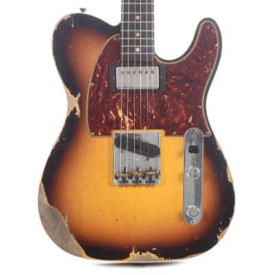 Fender Custom Shop Limited Edition '60s HS Telecaster Custom Heavy Relic Super Faded/Aged 3-Color Sunburst (Serial #CZ549806) for sale