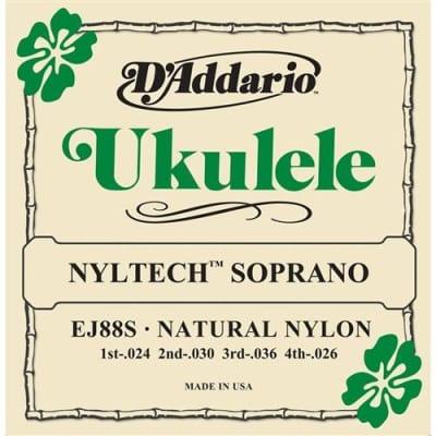 D'Addario EJ88S Nyltech Ukulele Strings - Soprano