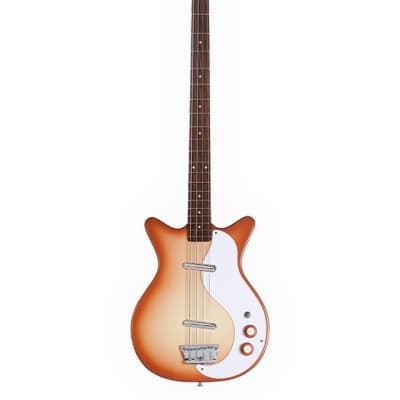 Danelectro '59 DC Long Scale Bass Guitar Copper Burst for sale