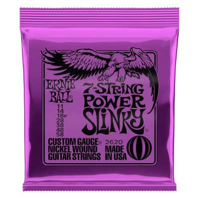 Ernie Ball Nickel Wound 7-String Power Slinky 11-58 Electric Strings
