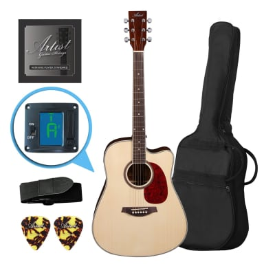 Artist LSPCNT Beginner Acoustic Guitar Pack With Cutaway for sale