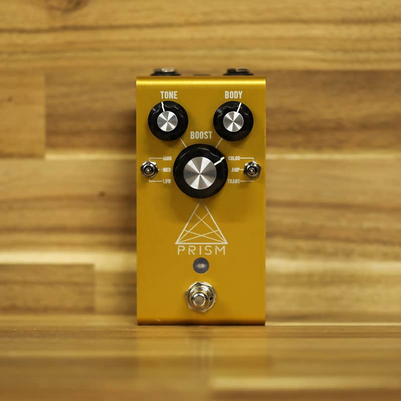 Jackson Audio Prism Buffer/Boost/PreAmp/EQ/Overdrive Guitar Pedal - Gold image
