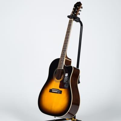 Epiphone AJ-220SCE Bell Acoustic Guitar - Vintage Sunburst for sale