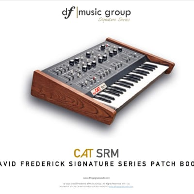 Updated! CAT df|MG  Synthesizer Signature Series Patch Book