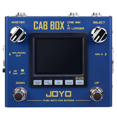 JOYO R Series R-08 CAB BOX Guitar Multi Effects Pedal IR Box Simulation IR Loader for sale