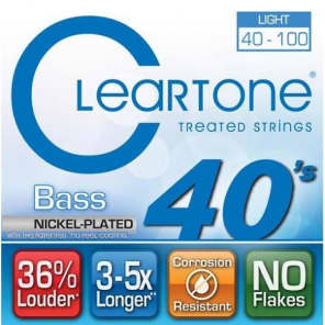 Cleartone 6440 Coated Nickel Bass Guitar Strings - Light (40-100)