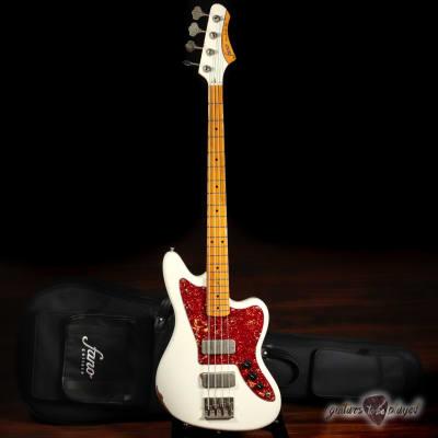 Fano JM4 Standard Bass MP Fingerboard w/ Gigbag - Olympic White (Med Distress) for sale