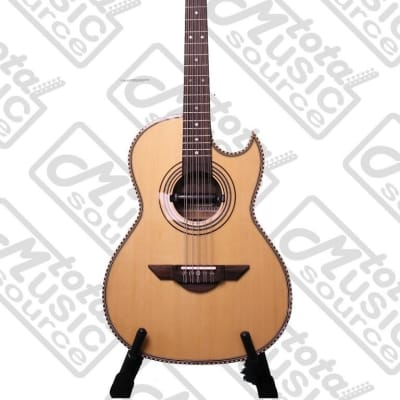 H. Jimenez Bajo Quinto (El Estandar)  solid spruce top with gig bag - FULL body - NO MICAS - with Seymour Duncan pickup, LBQ1E for sale