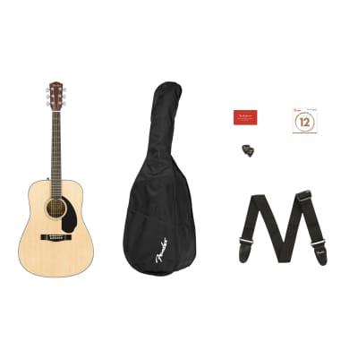 Fender CD-60S Dreadnought Acoustic Guitar Starter Pack V2, Solid Spruce Top