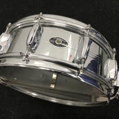 Slingerland Snare - 10 Lug Zoomatic 14 x 5 Brass Chrome Drum